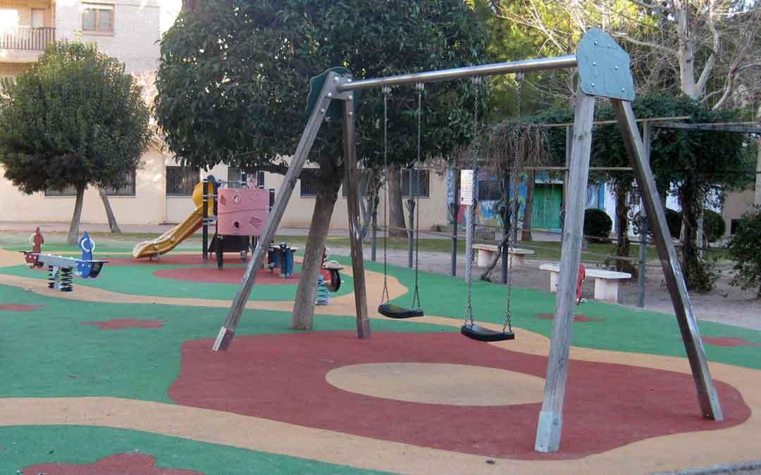 Parque de la plaza Pablo Serrano de Alcañiz