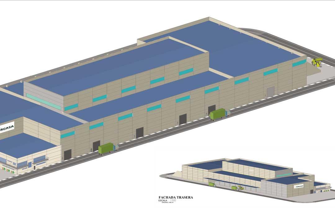 Imagen de la futura planta de fertilizantes de Samca en Ariño