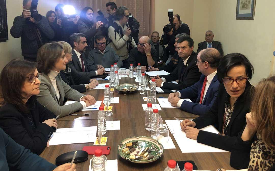 Reunión de la ministra con autoridades y agentes sociales este miércoles en el Ayuntamiento de Andorra