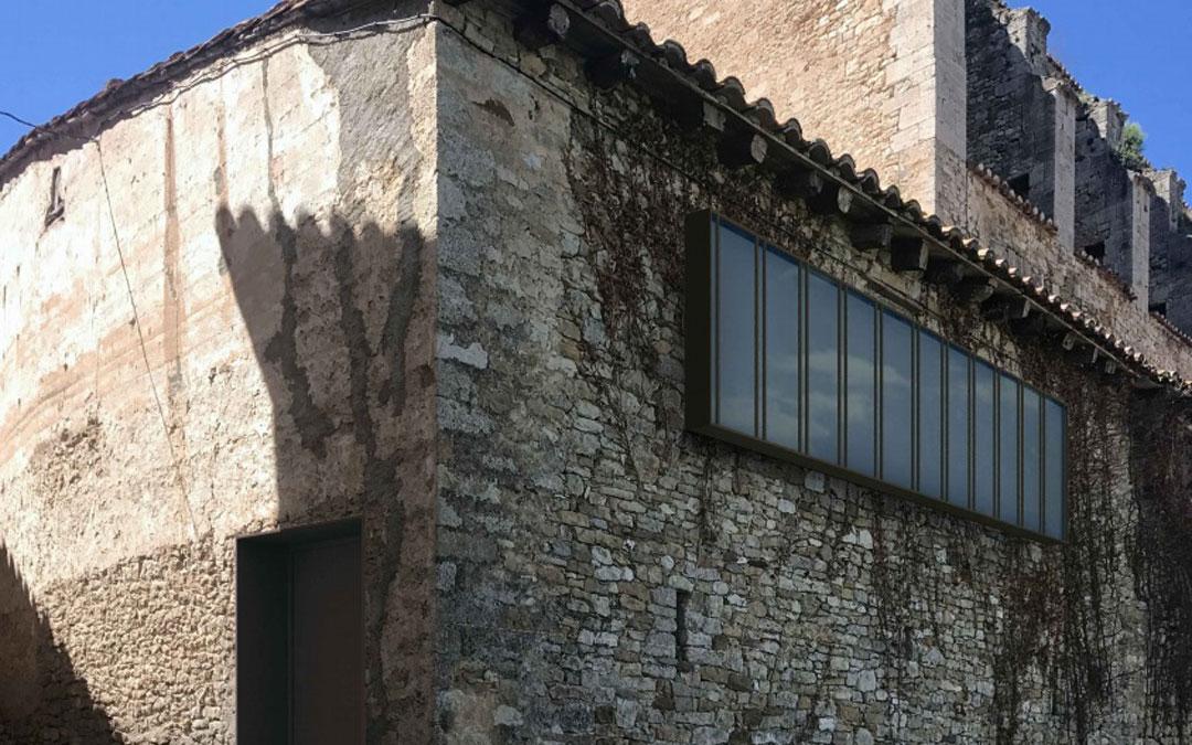El edificio que albergará la futura oficina de turismo se encuentra en pleno casco urbano de Tronchón