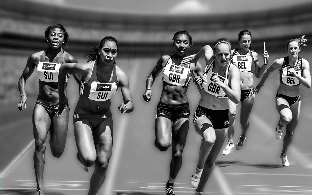 carrera relevos atletismo
