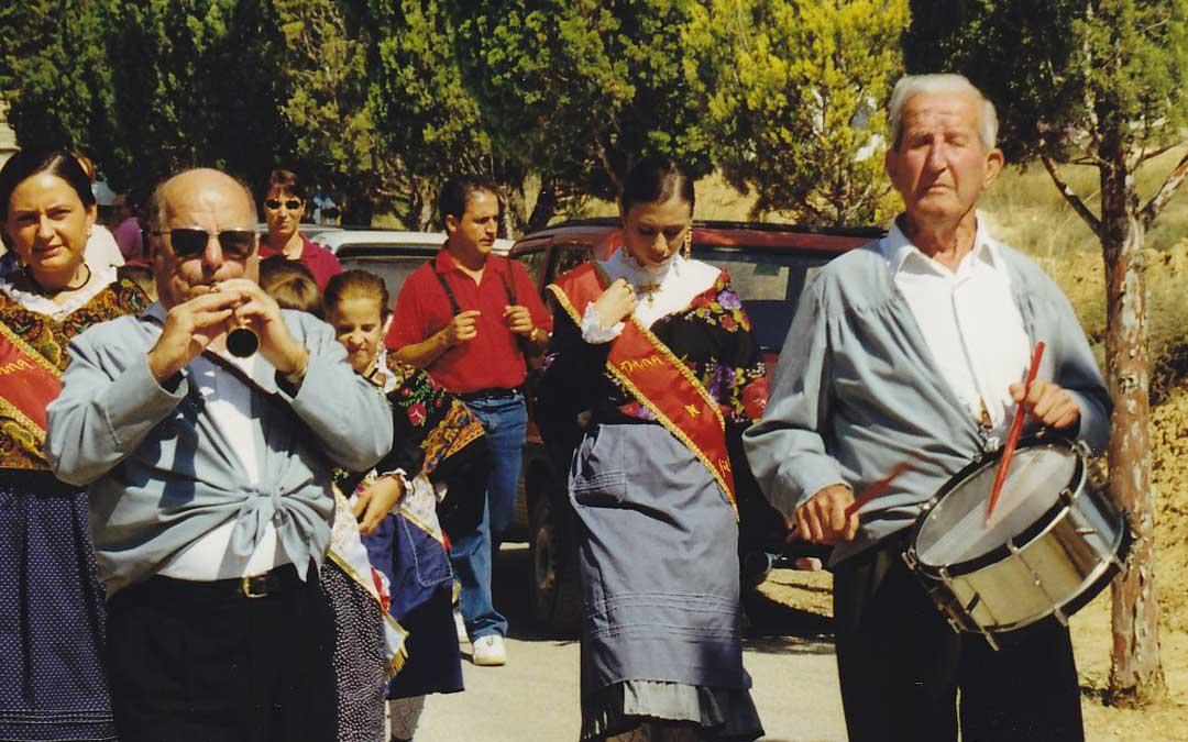 Noel Vallés, dulzainero; y José Alejos, tamborilero