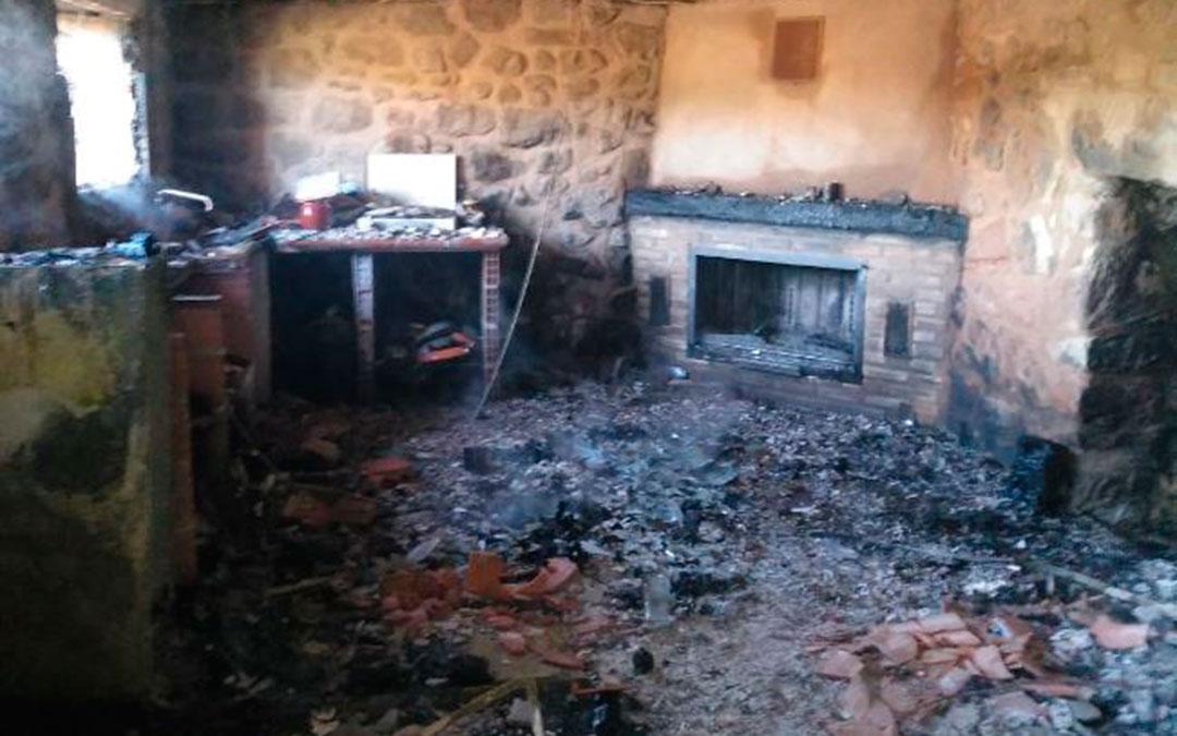 incendio masia alcaniz