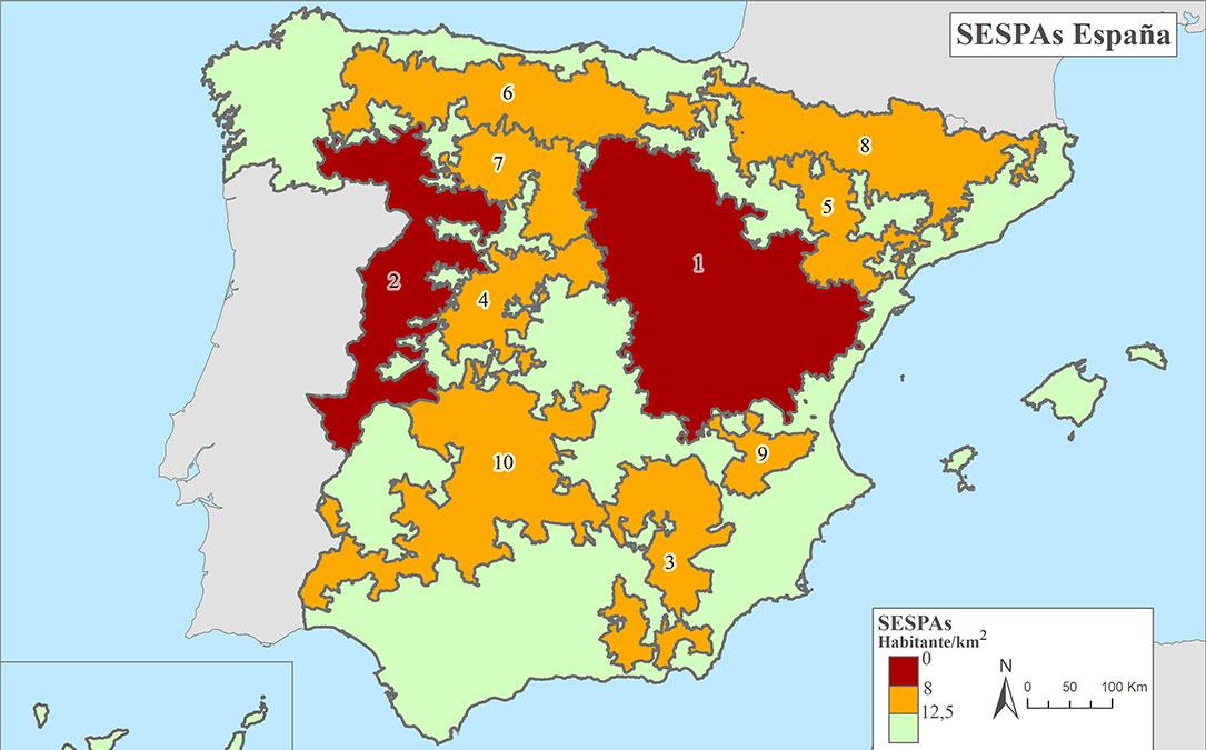 mapa espana areas escasamente pobladas sur europa sspa