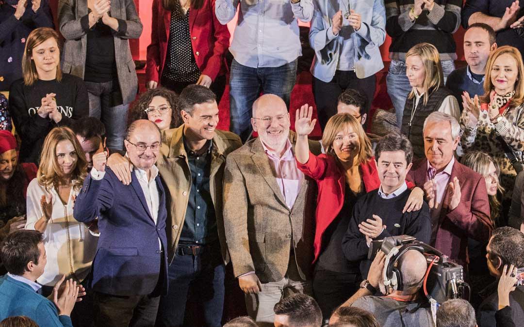 Pedro Sánchez ha estado en Zaragoza en un acto del PSOE
