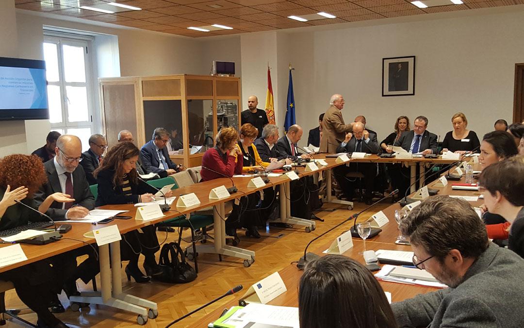 La Plataforma Europea de Regiones del Carbón en Transición se han reunido este miércoles en Madrid. DGA