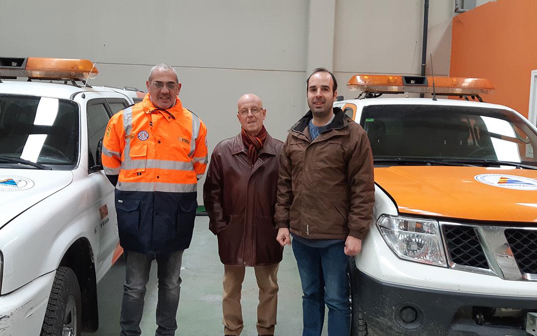 el presidente de salvamento bajo aragon junto al presidente comarcal manolo ponz y el consejero javier garcia