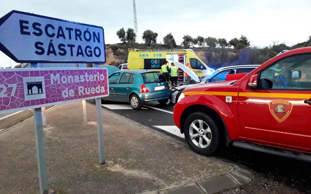 El choque ha tenido lugar en la intersección de ambas vías. Fuente: DPZ.