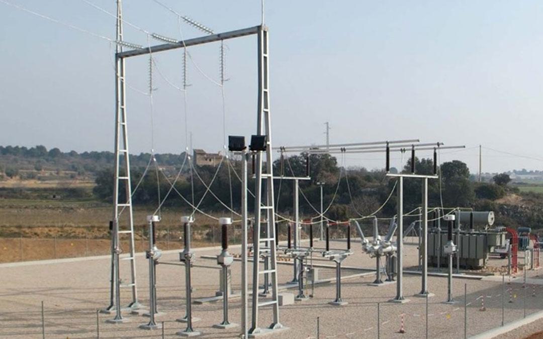 Imagen de la subestación eléctrica que Endesa tiene instalada en Valderrobres