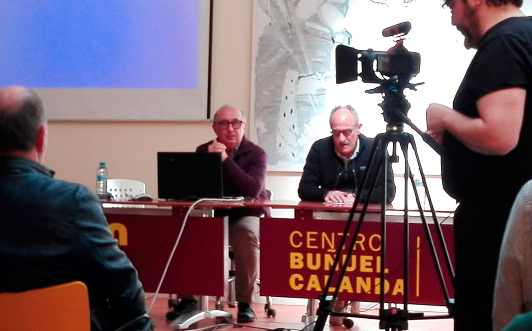 Lorenzo Gasca (i.), vicepresidente del Grec, y José Manuel Royo (d.), presidente, durante la presentación en el CBC.