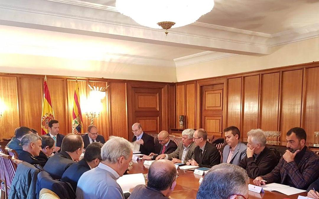 La Junta de Seguridad para el Gran Premio de Aragón se ha reunido, por primera vez, este miércoles en Teruel