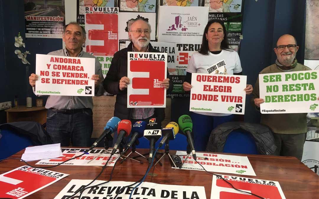Teruel Existe ha explicado las últimas novedades y adhesiones a la revuelta este martes en rueda de prensa