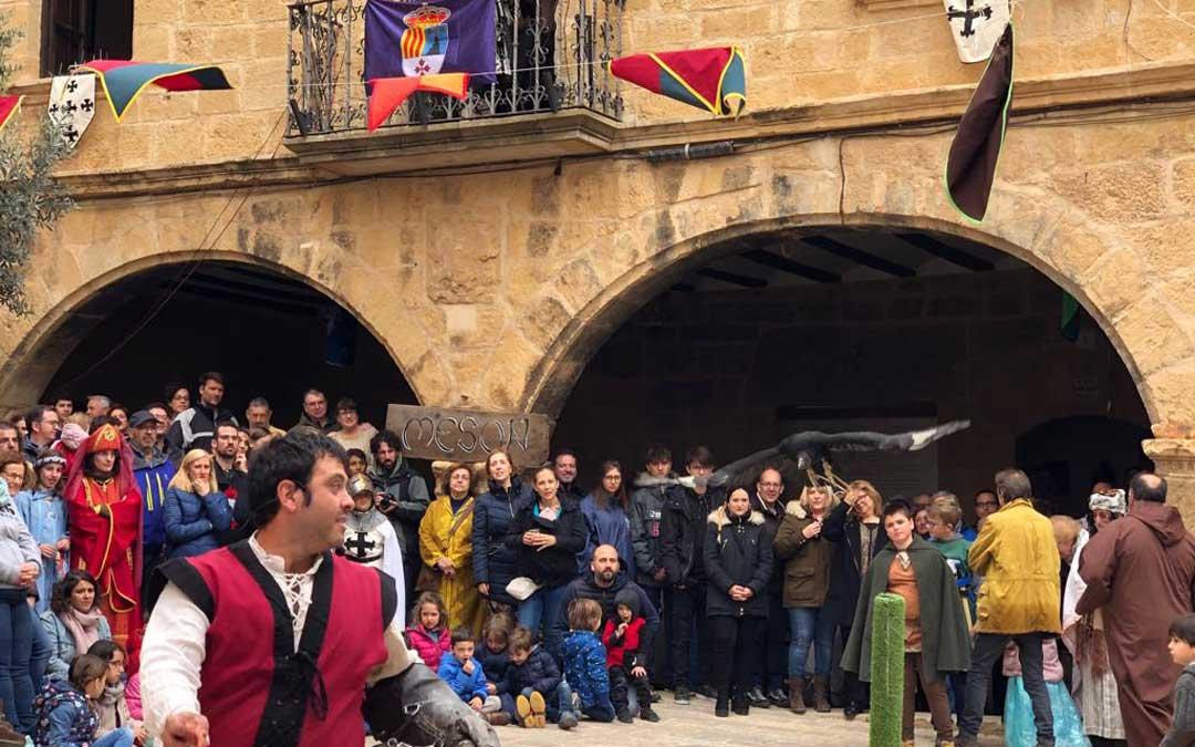 Demostración de cetrería dentro de la programación de la Carta Puebla.