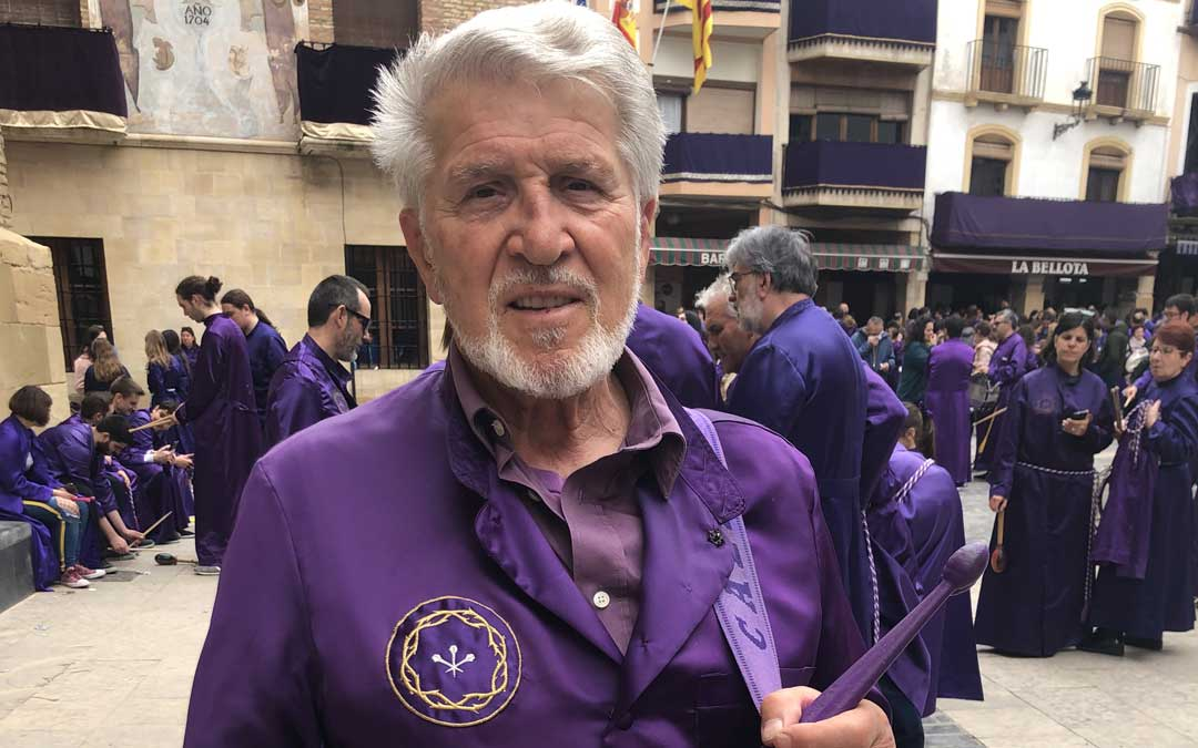 Miguel Vallés, esta Semana Santa en Calanda, su querido y siempre presente pueblo