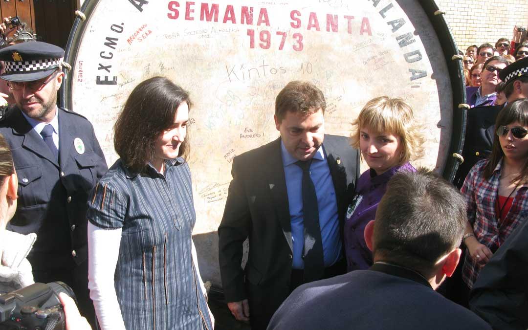 Alicia Esteban Rompió la Hora en 2010 por el Santo Ángel con Ángeles González Sinde a la orden del entonces alcalde, Manuel Royo.