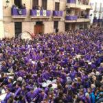 La plaza España de Calanda durante la Rompida de la Hora del Viernes Santo en 2019. / Beatriz Severino
