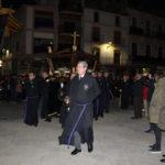 Momento del solemne Traslado del Santo Sepulcro en la plaza de España.