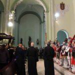 El Santo Sepulcro ya dentro de la iglesia tras el recorrido ante Longinos.