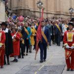 La corporación municipal durante la procesión