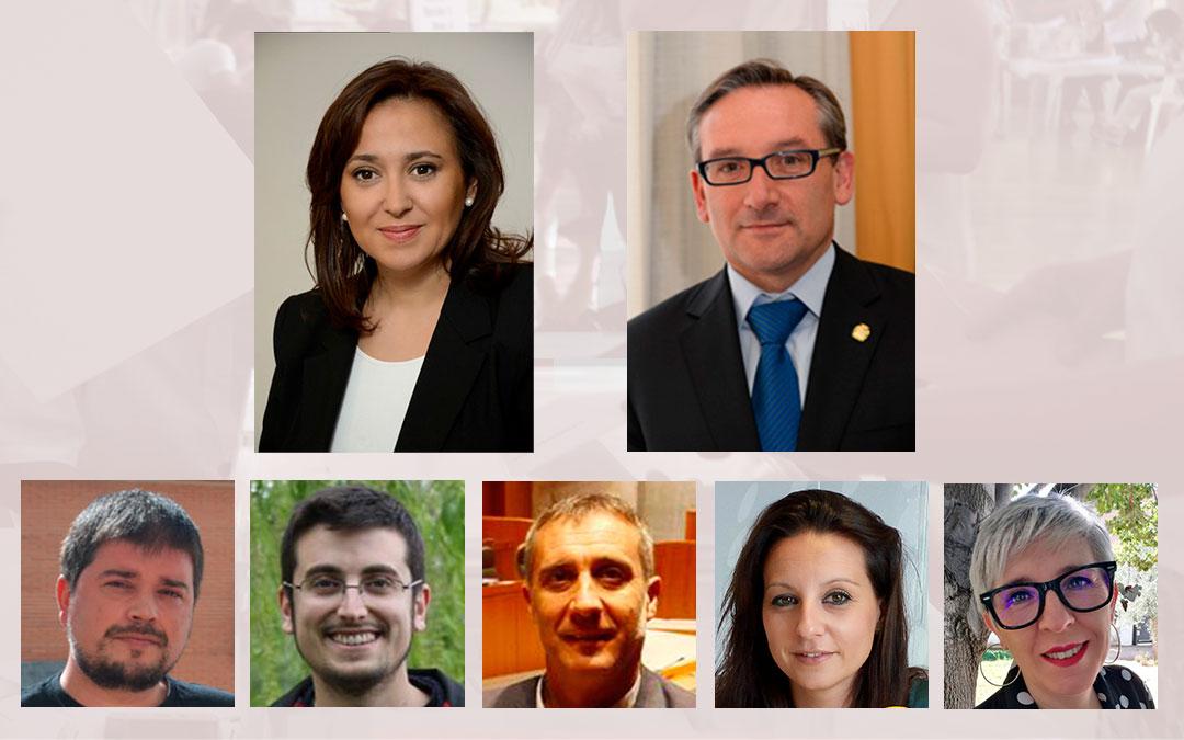Cabezas de lista de los principales partidos a las Cortes de Aragón por Teruel