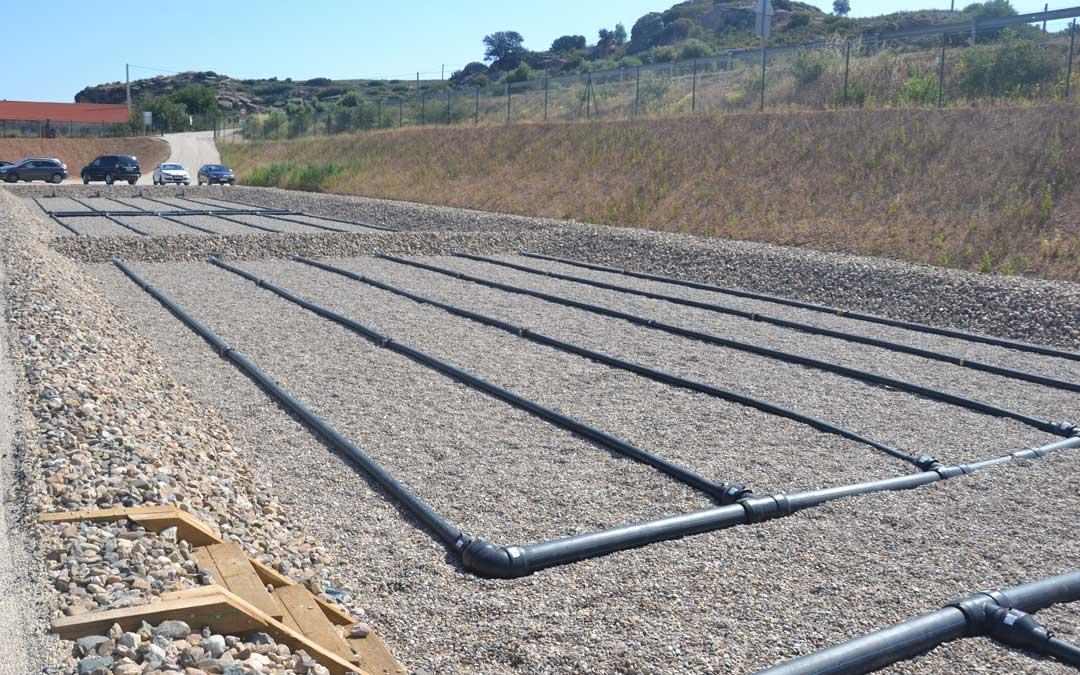 La depuradora proyectada en Aguaviva tendrá unas características similares a la instalada en Castelserás, en la imagen.