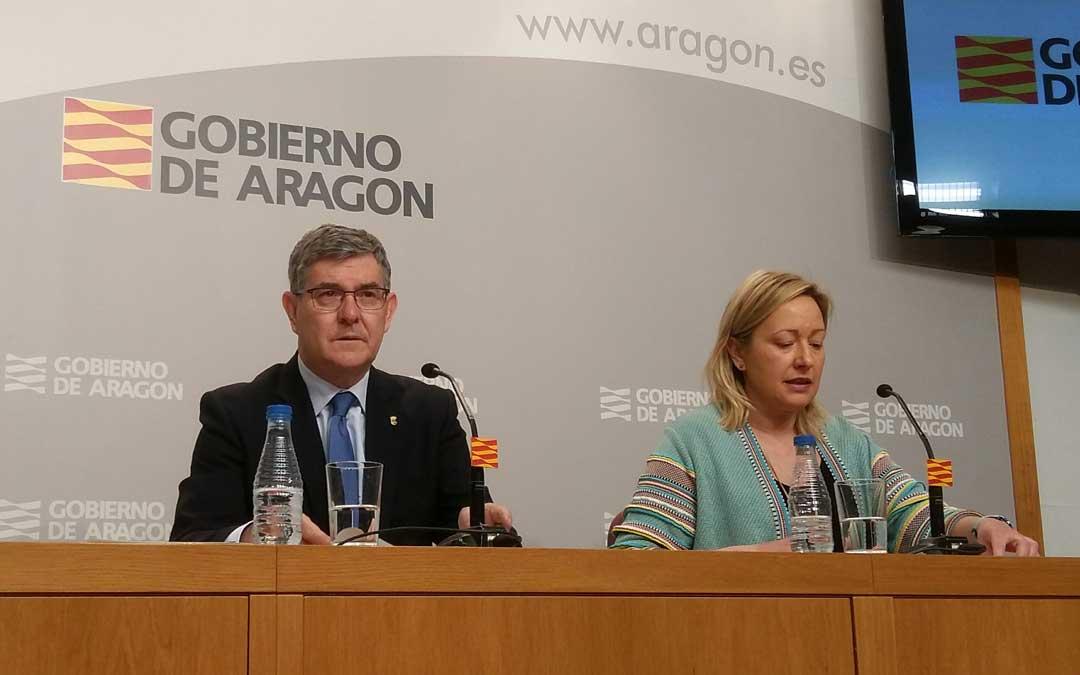 Vicente Guillén y Marta Gastón explicaron los pormenores del proyecte este miércoles tras el Consejo de Gobierno.