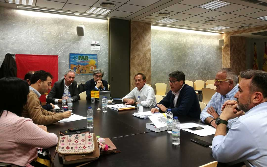 Comisión Permanente del PAR este lunes para analizar los resultados electorales. Foto: PAR