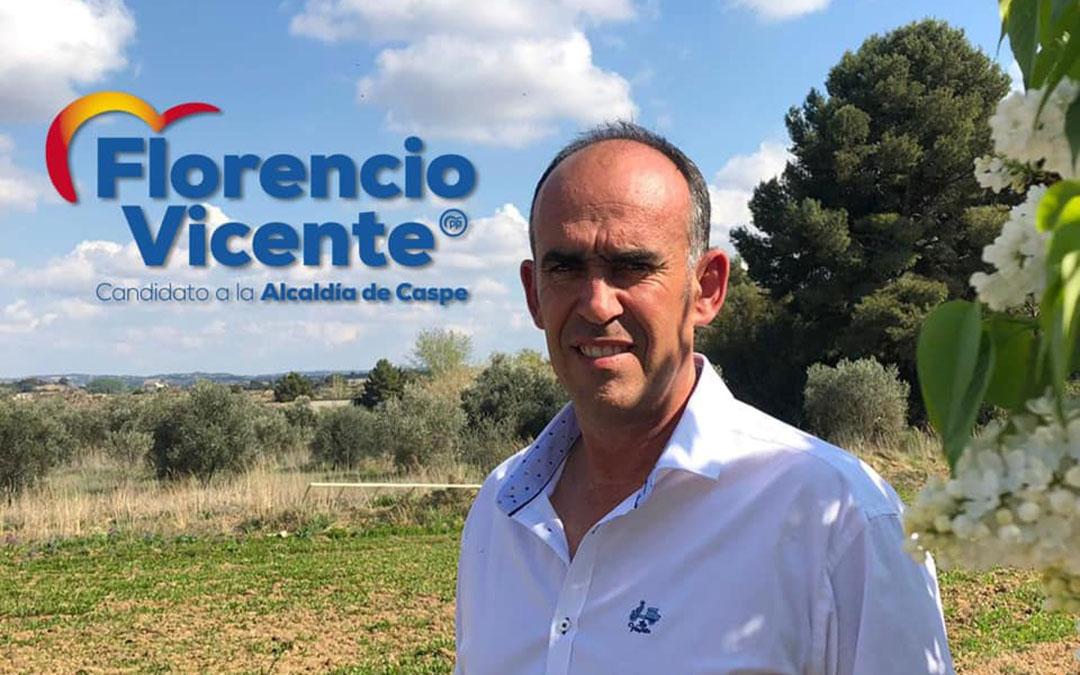 Imagen oficial de la candidatura de Vicente.