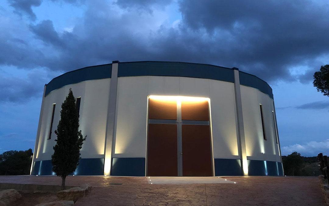 exterior del museo de la semana santa de hijar que recuerda a un tambor