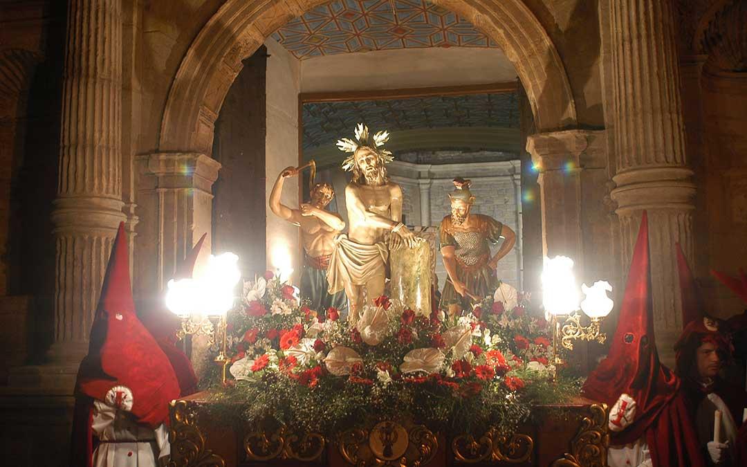 jesus atado a la columna cofradia melero semana santa andorra