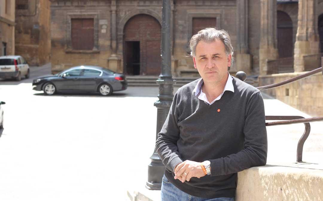 Joaquín Moreno, también alcalde de Utrillas, la semana pasada en Alcañiz. Foto: L. Castel