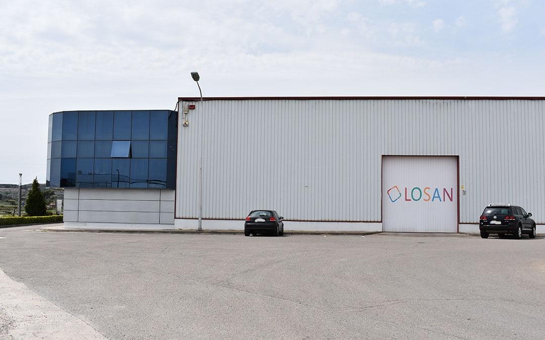 Imagen actual de la planta de Losan en Caspe.