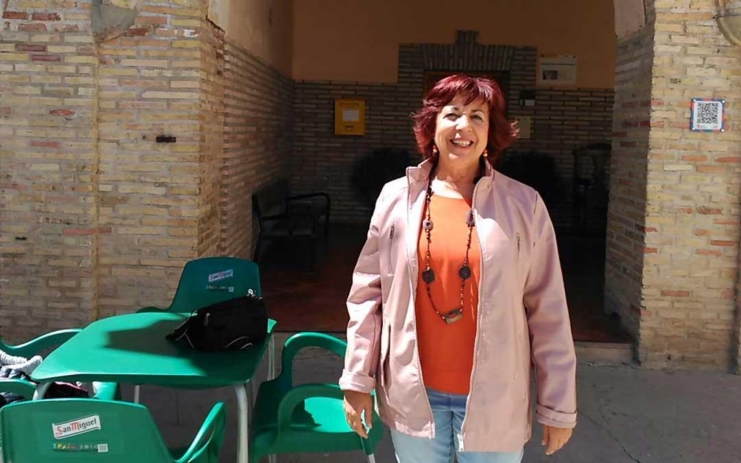Peña Martínez participando como concejal de Andorra en la convivencia anual del Día del Donante en Urrea. Foto: P.M.