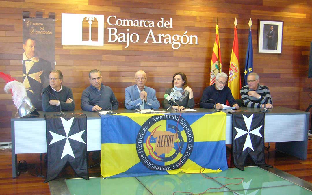 presentacion del encuentro de recreaciones historicas en la sede de la comarca del bajo aragon