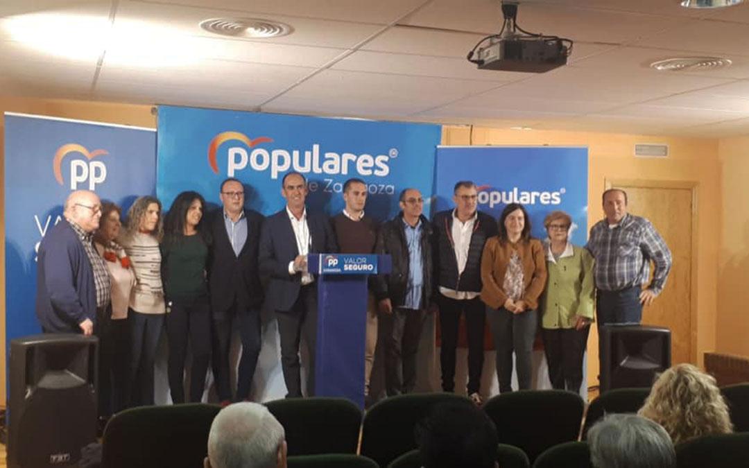 El mitin del PP tuvo lugar este miércoles en Caspe.