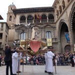Las Palometas volaron tras la apertura de la granada representando la Resurrección de Jesús