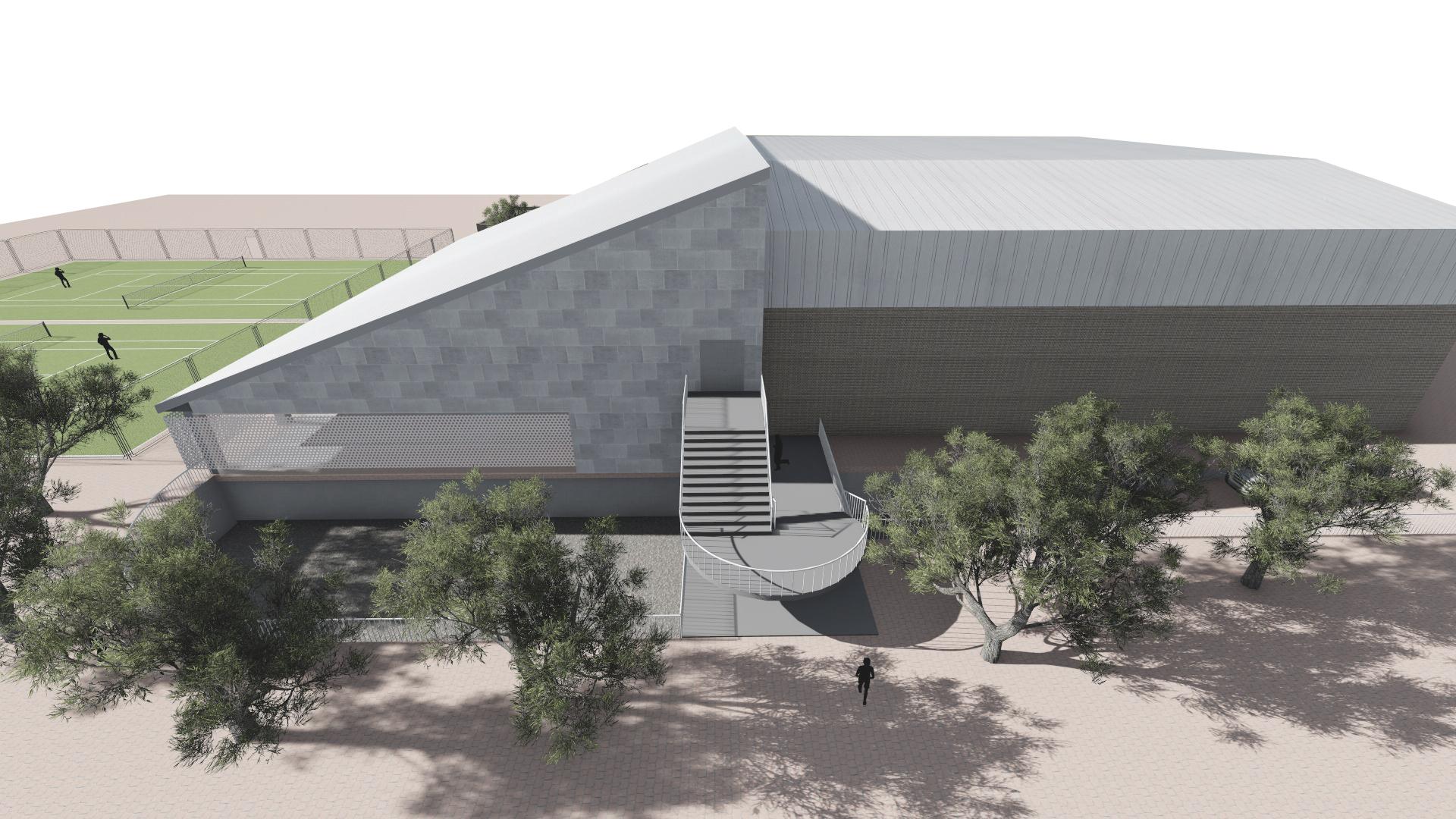 Recreación de cómo sería la nueva piscina climatizada de Alcañiz, según el proyecto de Sicilia y asociados arquitectura