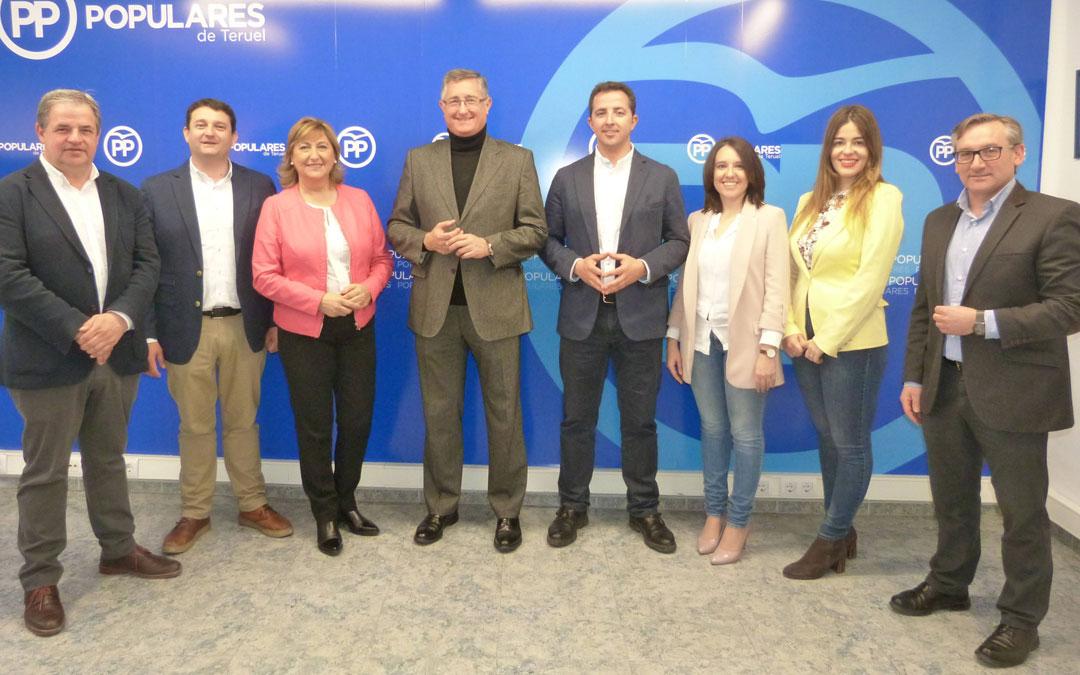 Los candidatos del Partido Popular de Teruel del Congreso y el Senado a las próximas elecciones del 28 de marzo
