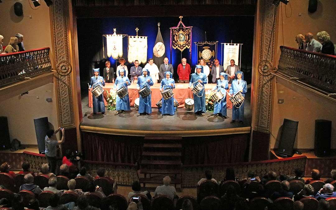 Imagen de archivo. Pregón de la Semana Santa en Alcañiz 2019.