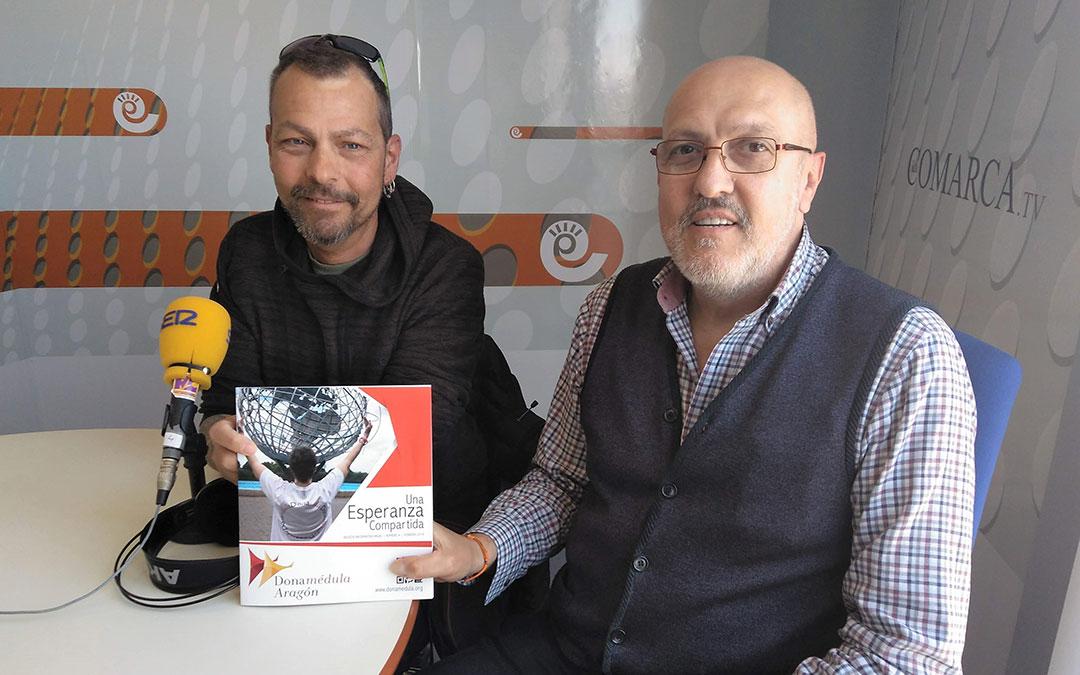 rafa esteruelas e ignacio torrubia de dona medula aragon tras una entrevista en radio la comarca