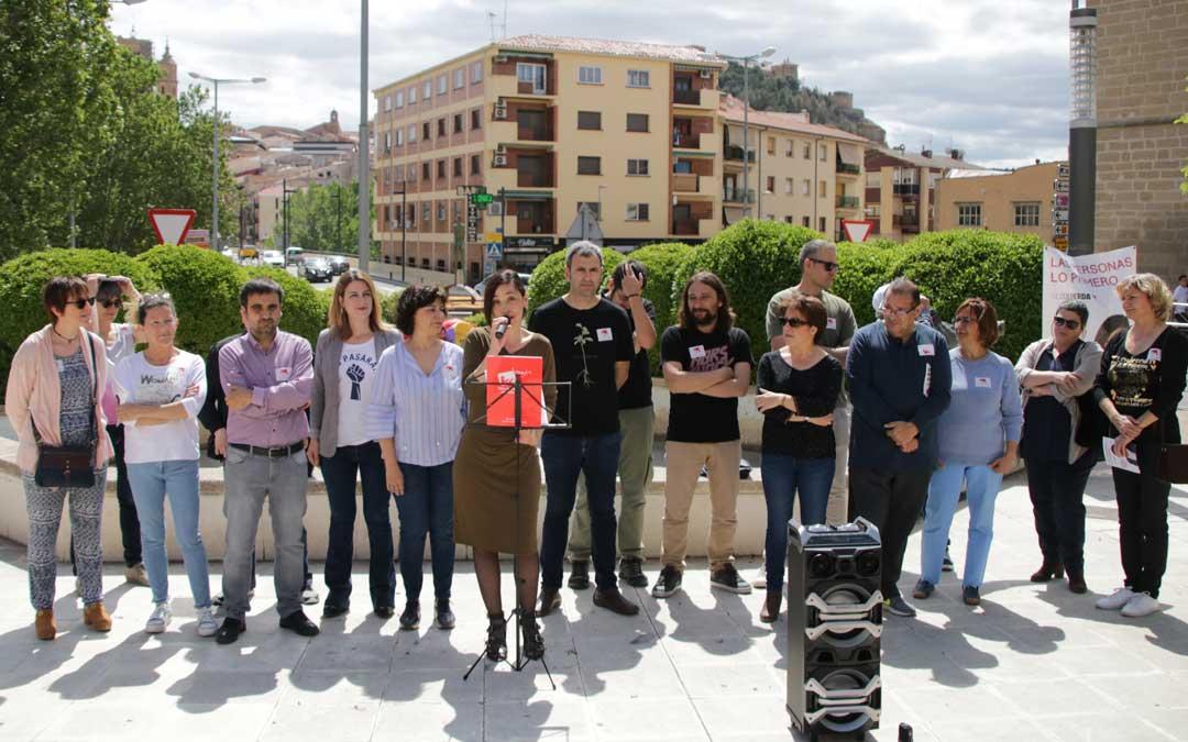 La cabeza de lista de IU, María Milián, ha presentado este sábado el programa municipal del partido.