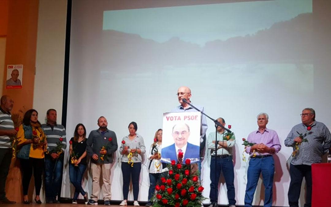 Chicho Pérez, en el mitin de presentación de su candidatura del PSOE para Albalate. / PSOE
