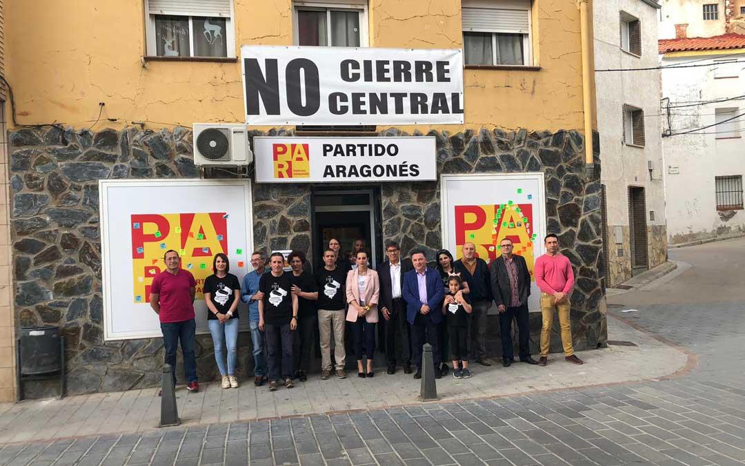 Arturo Aliaga junto a Juan Ciércoles, en la presentación de la lista del PAR a la alcaldía de Andorra