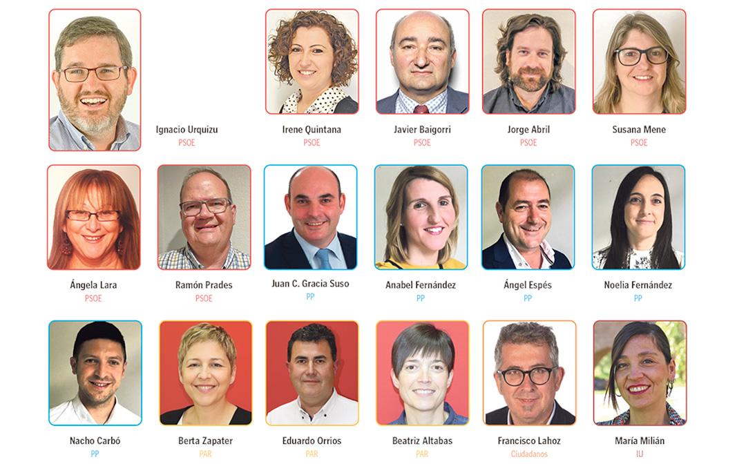 Los 17 concejales del Ayuntamiento de Alcañiz para la próxima legislatura
