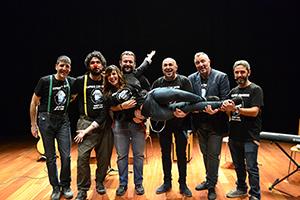 Entrevista a «Cafres con Leche» en el teatro Goya de Caspe