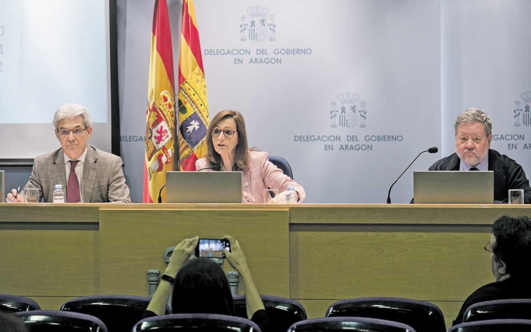 La delegada del Gobierno de Aragón, Carmen Sánchez, ha ofrecido este jueves las cifras de las municipales y europeas. Foto: Raquel Labodía / Heraldo