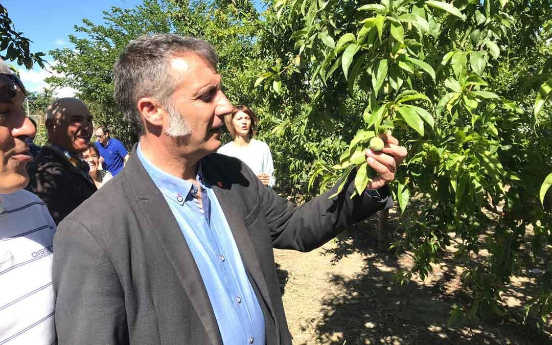 Ramiro Domínguez (Ciudadanos), en su visita a Calanda donde ha hablado de internacionalización y de la banda ancha