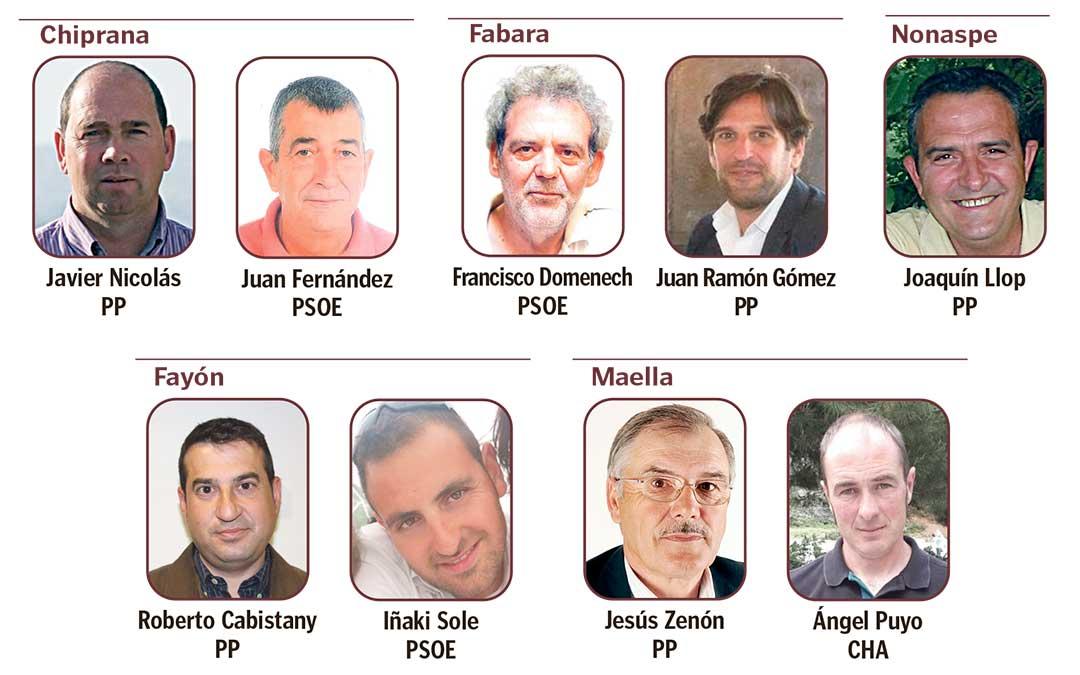 Fotos de los candidatos de los principales partidos