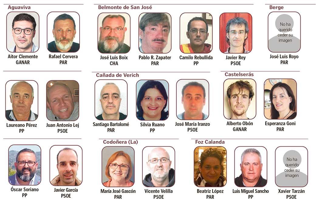 Primera parte de la lista de los pueblos del Bajo Aragón donde hay novedades.