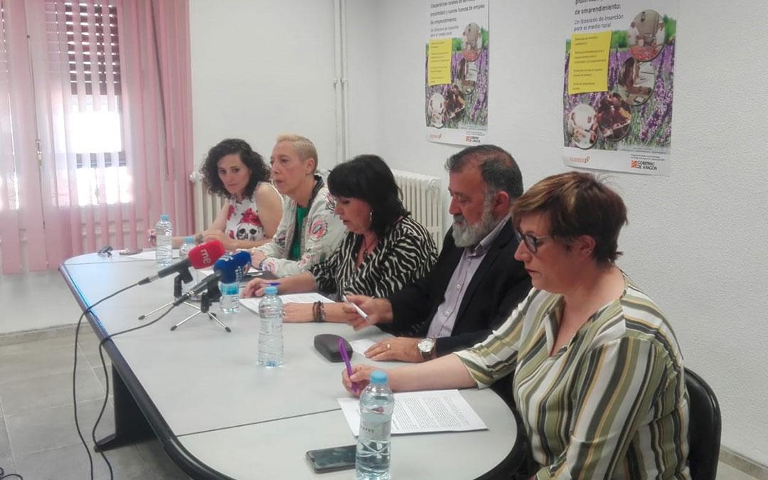 Imagen de la presentación del proyecto de Fademur en la sede de Teruel.